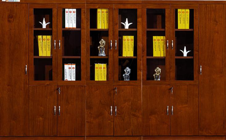 胡桃木书柜、金朋
