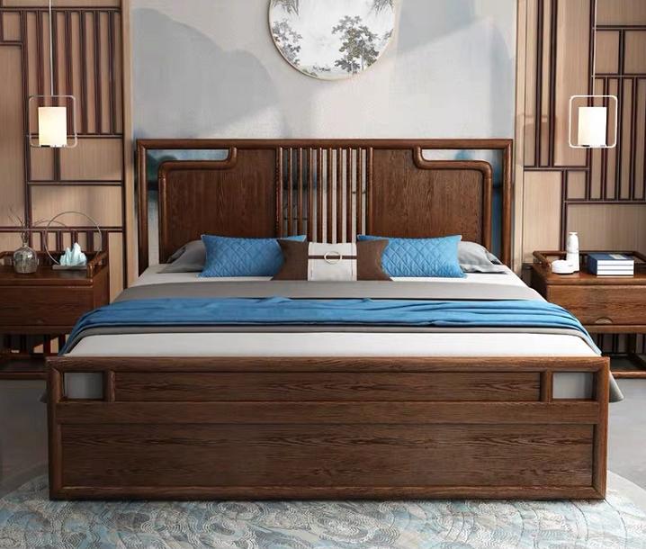 中式实木床、金朋