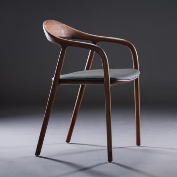 北欧简约实木餐椅、金朋